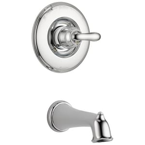 Delta Faucet Linden 2 5 Gpm Pressure Balanced Bath Single Lever Handle Mixing Valve Trim In
