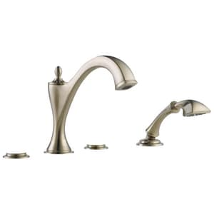 Brizo Charlotte® 18.5 gpm 4-Hole Roman Tub with Hand Shower Trim (Trim Only) DT67485LHP
