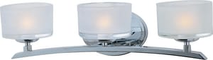 Maxim Lighting International Elle 5-3/10 in. 60W 3-Light Bath Light with Frosted Glass Shade M19053FT