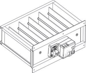 American Standard HVAC 16 in. Rectangular Bottom Mount Actuator AZDAMPBMMA16A