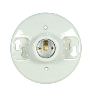 Satco Glazed Ceiling Receptacle (Key Not Included) S801648