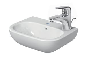 Duravit USA D-Code 1-Hole Wall Mount Handrinse Basin in White Alpin D07053600092