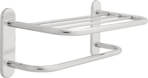 Delta Faucet Commercial 18 in. Brass - Stainless Steel Towel Shelf with Single Bar Concealed Mounting in Polished Chrome D43018
