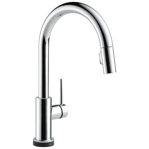 Delta Faucet Trinsic® 1.8 gpm 1-Hole Single Lever Handle Deckmount Kitchen Sink Faucet 360 Degree Swivel Pull-Down Spout 3/8 in. Compression Connection D9159TDST