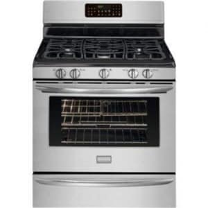 Frigidaire 5.0 CF 30 in. Free Standing Gas Range Convection Oven in Stainless Steel FFGGF3054MF