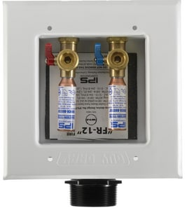 Guy Gray™ Guy Gray™ 5-1/4 x 5-1/4 in. Metal Washing Machine Outlet Box with 1/2 in. Sweat and Quarter Turn Arrester Valve I82583