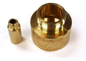 Rohl Volume Control Bath Extension Kit in Brass RC491258SET