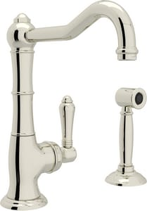 Rohl Country Kitchen 8-1/4 in. 1-Hole Deck Mount Bar Faucet with Single Lever Handle RA365065LMWS2