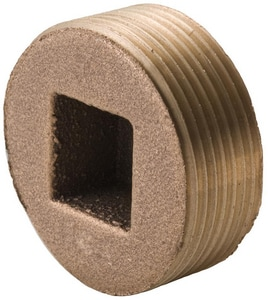 MNPT Square Head Solid Brass Plug IBLFSH
