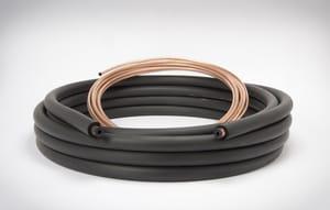 Mueller Industries 5/16 x 3/4 x 1/2 x 50 ft. Copper Plain End Line Set M51220500