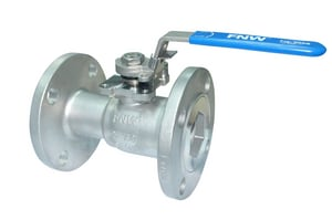 FNW 150# 1-Piece Stainless Steel Flanged Reduced Port Ball Valve FNW500