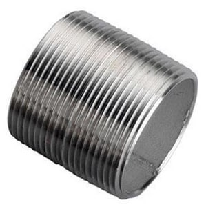 Merit Brass Closed Schedule 40 304L Stainless Steel Weld Threaded Both Ends Nipple DS44NPCL