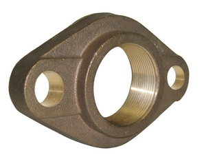 A.Y. McDonald Oval Flange x FNPT Brass Straight Coupling M7610FK