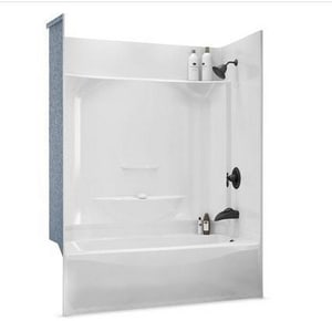 Aker Plastics 60 x 32 in. Tub and Shower with Left Hand Drain A142012000002094