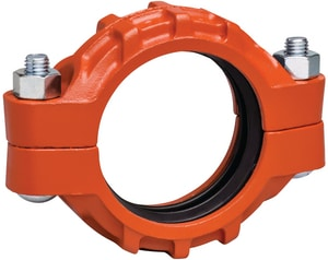 Victaulic Style 77 Grooved Painted Ductile Iron Coupling with Enamel Gasket VLM77PE0