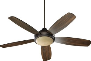 Quorum International Cotton 52 in. Ceiling Fan with 40 W Candelabra Light in Oil Rubbed Bronze Q36525986