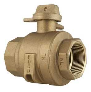 Ford Meter Box 2 in. FIP x FIP Curb Stop Ball Valve with Rotating Lock Wing FB11777WRNL