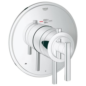 Grohe GrohFlex™ 6.6 gpm 2-Function Thermostatic Trim TurboStat Control Module and 45 psi Max Flow Rate in Starlight Polished Chrome G19849000