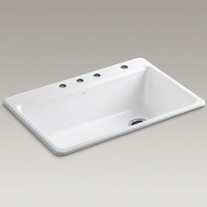 Kohler Riverby™ 1-Bowl Topmount Kitchen Sink K5871-4A2