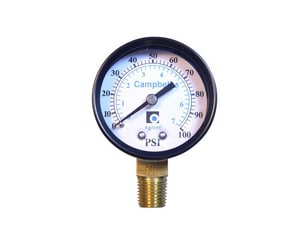 Campbell Manufacturing 2 ga Lower Mount Pressure Gauge CPG1TNL
