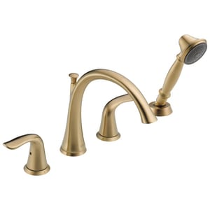 Delta Faucet Lahara® 19 gpm 4-Hole Roman Tub Trim with Hand Shower and Double Lever Handle (Trim Only) DT4738
