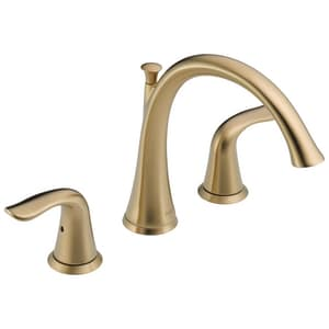 Delta Faucet Lahara® 3-Hole Roman Tub Faucet with Double Lever Handle Deckmount (Trim Only) DT2738