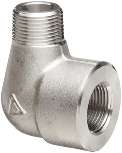 3000# 304L Stainless Steel Threaded 90 Degree Elbow IS4L3TS9