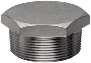 Threaded 3000# 304L Stainless Steel HEX Plug IS4L3THP
