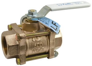Apollo Conbraco 600 psi 3-Piece Bronze and Stainless Steel Threaded Full Port Isolation Ball Valve with Lever Handle A82LF1401
