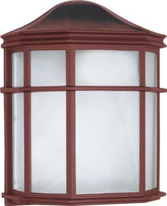 Nuvo Lighting 1-Light 60W Caged Outdoor Wall Lantern in Old Bronze N60538