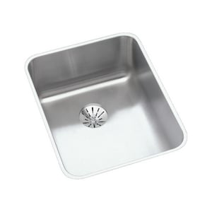 Elkay 1-Bowl Stainless Steel Undermount Sink Kit in Lustrous Highlighted Satin EELUHAD141855PD