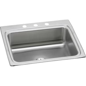 Elkay Gourmet® 1-Bowl Topmount Kitchen Sink with Center Drain ELR2522PD