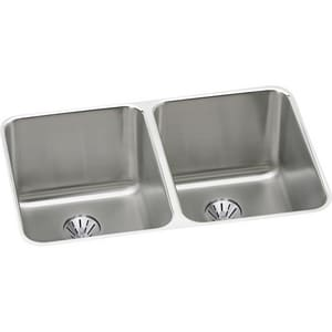 Elkay Gourmet® 2-Bowl Undermount Sink Kit with Perfect Drain EELUH3220PD