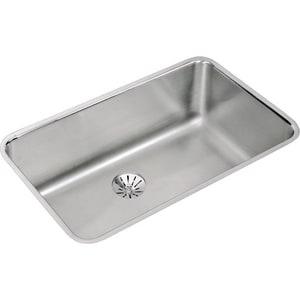 Elkay Gourmet 1-Bowl Undercounter Stainless Steel Kitchen Sink EELUH281610PD