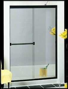 Basco Shower Enclosures Classic 70 x 60 in. Frameless Shower Door in Silver B350060CLBN