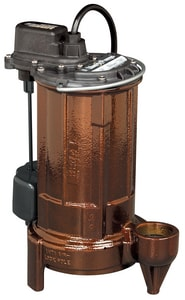 Liberty Pumps Cast Iron Submersible Effluent Sump Pump with Vertical Magnetic Float and 10 ft. Cord L297