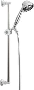 Delta Faucet 7-Setting Wall Mount Slide Bar Hand Shower in Polished Chrome D51701