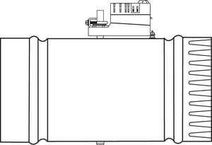 Trane Round Module Zone Damper TZDAMPRDMA00A