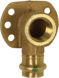 Viega ProPress® 1/2 x 3/8 in. Press x FNPT Bronze 90 Degree Drop Ear Elbow V79185