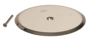 Jay R. Smith Manufacturing 7 in. Stainless Steel Round Access Cover with Screen S471007