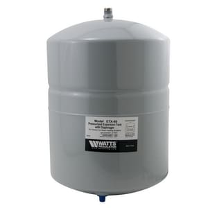 Watts Water Expansion Tank for Hydro Heating Precharged at 12 psi WETX60