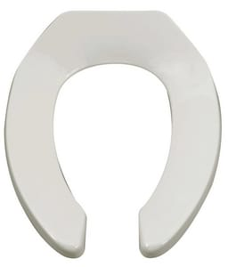 American Standard Plastic Elongated Open Front Less Cover Toilet Seat A5901110