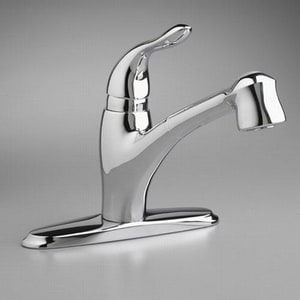 American Standard Lakeland® 2.2 gpm 1-Hole Pull-Out Kitchen Faucet with Single Lever Handle in Polished Chrome A4114100002