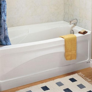 American Standard Colony® Soft 66 x 32 in. Bathtub with Integral Apron with Left Outlet A1748202020