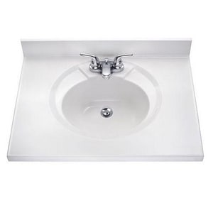 American Standard Astra-Lav™ 37 x 22 in. 3-Hole Marble Vanity Top ACMA8374