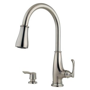 Pfister Ainsley 2.2 gpm 8 in. Single-Handle Deck Mount Kitchen Sink Faucet 360° Swivel High Arc Pull Down Spout 3/8 in. Compression Connection PF5297AYS