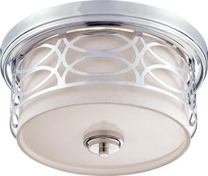 Nuvo Lighting Harlow 60W 2-Light Medium Flush in Polished Nickel N604627