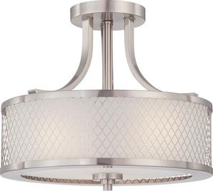 Nuvo Lighting Fusion 60W 3-Light Medium Base Incandescent Semi-Flush Light N604692
