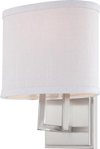Nuvo Lighting Gemini 1-Light Vanity Lighting Fixture in Brushed Nickel with Slate Gray Glass Shade N604751