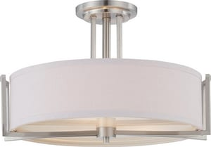 Nuvo Lighting Gemini 3 Light 60W 18-3/4 in. Semi Flush Mount N604758